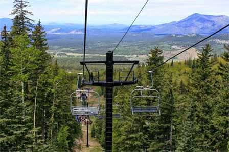 Picture of Summer Chairlift Rides at San Francisco Peaks in Flagstaff, AZ