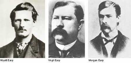 Wyatt Earp, Virgil Earp and Morgan Earp