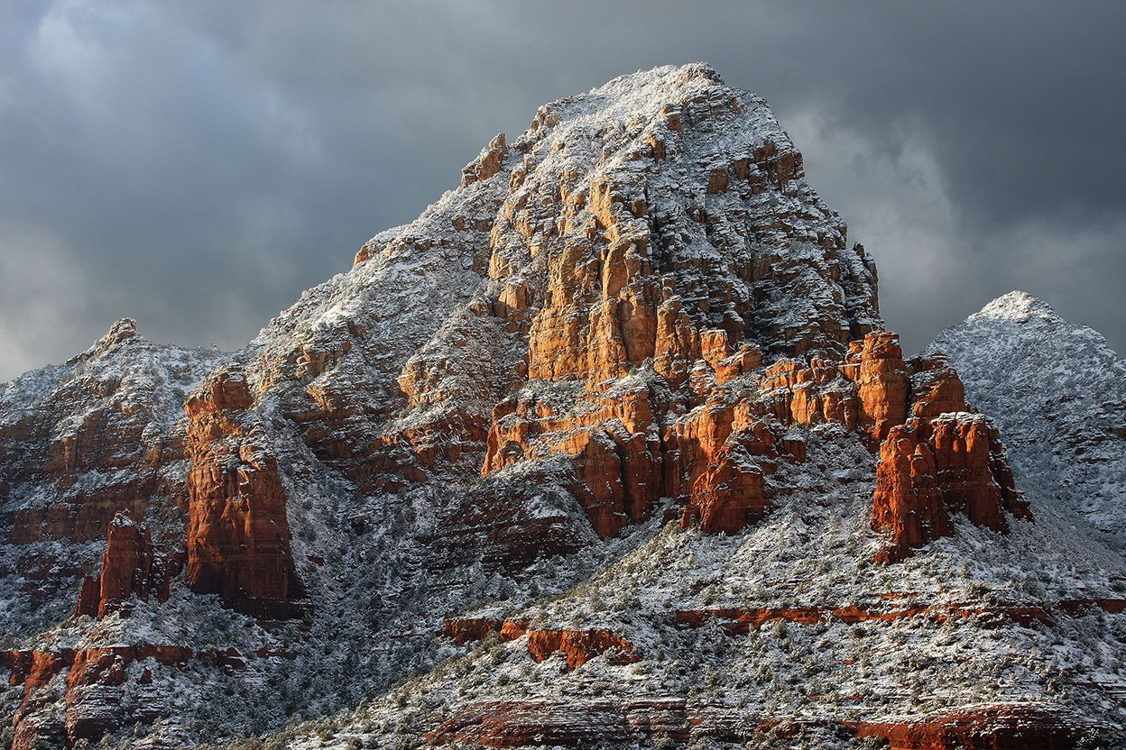 Sedona Arizona Winter Snow Pictures