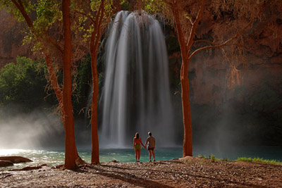 Hikers Below Havasu Falls
