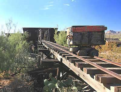 Ore Cars at Goldfield, AZ