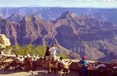 View of the Grand Canyon from the Grand Canyon Lodge at the North Rim