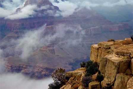 Picture of Winter Inversion at Lipan Point
