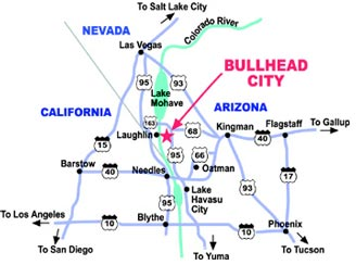 Bullhead City Arizona Things To Do Directions Bullhead City AZ Map - City map of arizona
