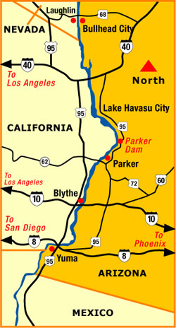 Map Of Arizona Nevada.Parker Map Arizona Colorado River Communities A3 Map