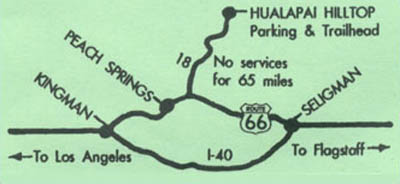 Map To Hualapai Hilltop Trailhead