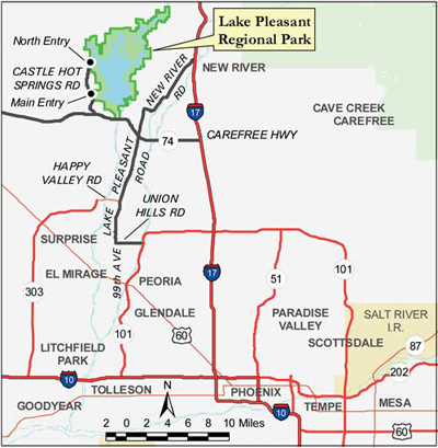 Lake Pleasant Phoenix Arizona Boating Camping Fishing Maps