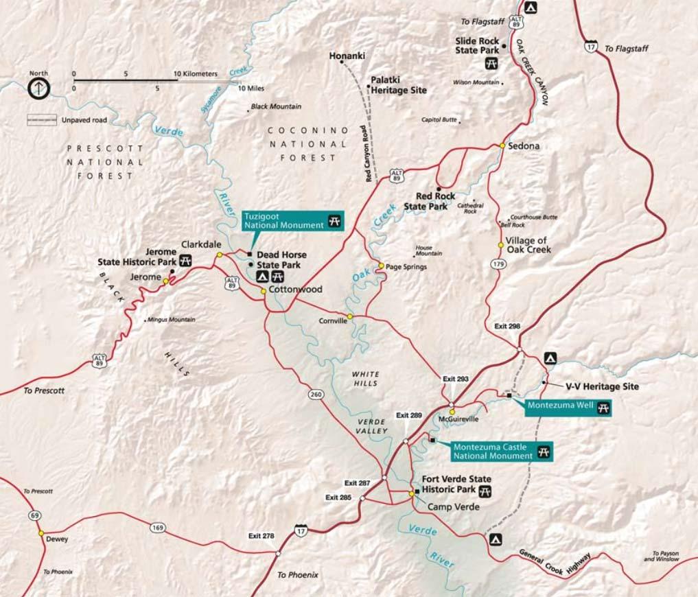 Directions and Map Montezuma Castle National Monument Arizona