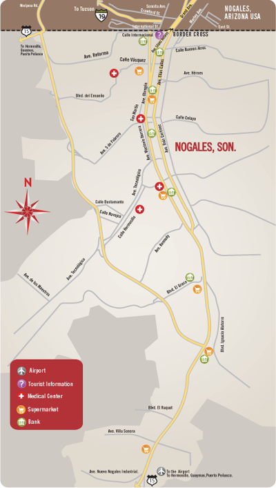 Map Of Nogales Mexico