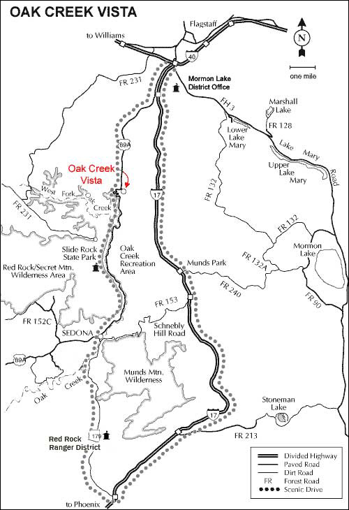 Oak Creek Canyon Vista Overlook |Directions and Map