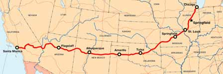 Map Of Old Route 66 Arizona.Brief History Of Route 66 Arizona Travel Vacation