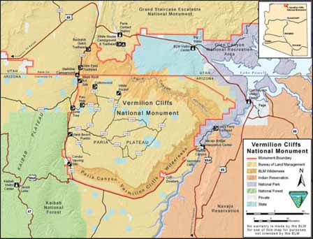 Vermilion Cliffs National Monument Map