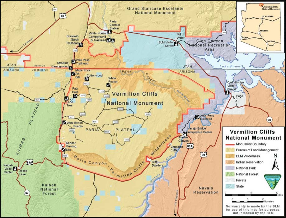 How To Get To Vermilion Cliffs National Monument | Map, Location ...