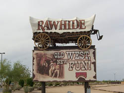 Entrance to Rawhide Wild West Town